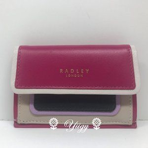 Radley London Purple Card Case Coin Holder NEW